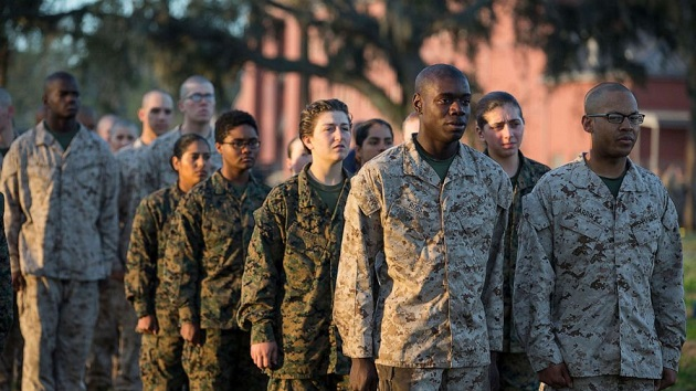 First integrated company of men, women graduates from Marine Corps boot camp