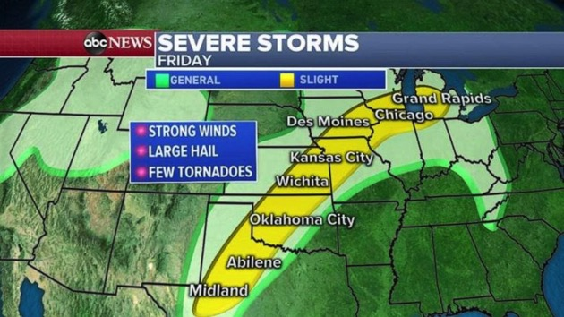 Stormy weather awaits Plains, Midwest over Memorial Day weekend