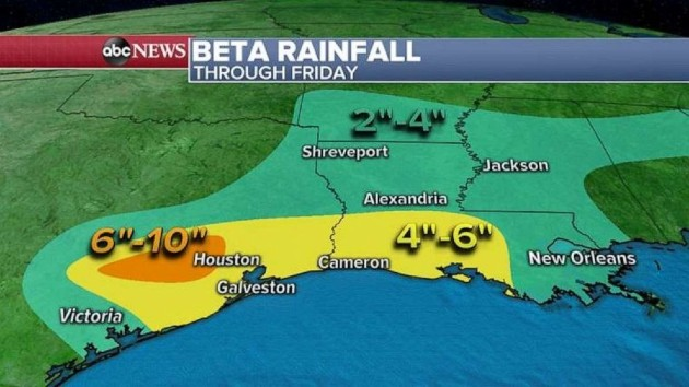 Tropical Storm Beta could drop up to 20 inches of rain in parts of Texas