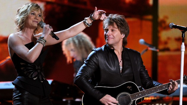 "Jennifer Nettles hoping ""beautiful, magical lightning"" will strike again with second Bon Jovi collab"