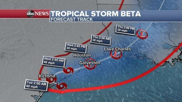Tropical Storm Beta makes landfall in Texas