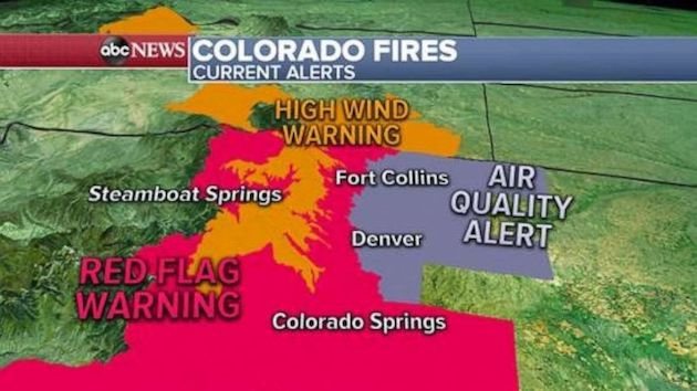 Colorado sees its largest ever wildfire as cold blasts Midwest and Northeast
