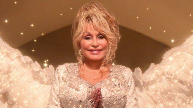 Dolly Parton plays a singing angel in her upcoming Netflix holiday special, 'Christmas on the Square'