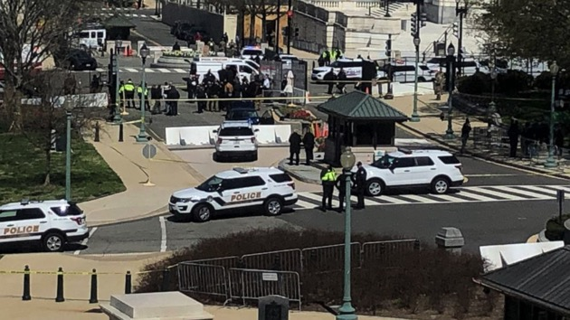 Shots fired at US Capitol barricade, suspect in custody